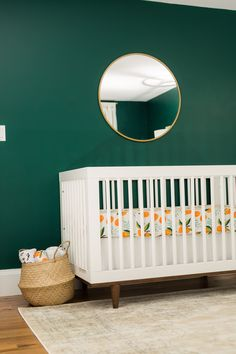Baby Girl Nurseries - Looking for one-of-a-kind nursery for the baby inspirations? Flick thru our probable baby nursery neutral Gold Nursery, Nursery Room, Nursery Decor, Nursery Ideas, Green Nursery Girl, Dark Nursery, Nursery Modern, Baby Room Green, Orange Nursery