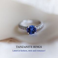 Clean tanzanite ring by using a small soft brush and warm soapy water. Gently clean upper and underside of the tanzanite. Tanzanite care and cleaning guide. Tanzanite Engagement Ring, Engagement Jewelry, Diamond Engagement Rings, Wedding Notebook, Tanzanite Jewelry, Halloween Fashion, Fashion Deals, Sapphire, Gems