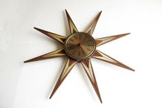 Welby Atomic Sunburst Starry Splendor Wall Clock  Mid by VintMod, $145.00