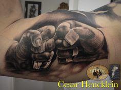 Jiu-jitsu tattoo by Cesar Hencklein