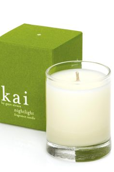 All-natural proprietary blend of soy, palm and coconut wax, will fill the room with the aura of kai's intoxicating scent. 10 oz, approximate burn time: 60 hours,paraben, sulfate, phthalate, phosphate & gluten free. cruelty free. vegan.   Nightlight Candle by Kai Fragrances. Home & Gifts - Home Decor - Candles & Scents California