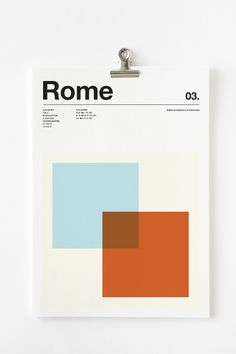 Minimalist Posters That Depict The World's Cities In Three Distinct Colors - DesignTAXI.com