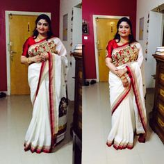 Our very own gorgeous Nisha chechi in #Devanga.. #Boutiques_in_Kochi www.laksyah.com