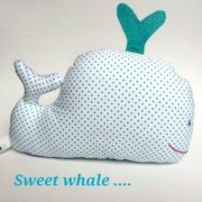 Whale stuffed toy-Rattle