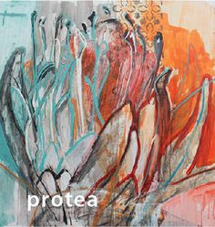 Janine Holloway Invitation image Protea Art, Protea Flower, Abstract Flowers, Abstract Art, Tea Bag Art, Flower Sketches, Tole Painting, Amazing Art, Art Projects