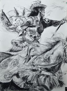 Yabusame! el último que trabajé… y esté tiene más caballo