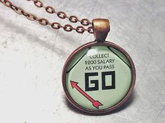 Upcycled Jewelry MONOPOLY Collect 200 dollars by theChineseLaundry, $12.00