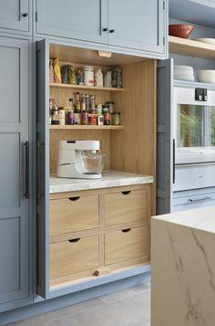 Kitchen Pantry Cupboard, Kitchen Cupboard Designs, Kitchen Room Design, Kitchen Redo, Modern Kitchen Design, Home Decor Kitchen, Interior Design Kitchen, Home Kitchens, Kitchen Remodel