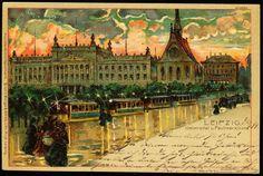LEIPZIG LITHO Universität u. Paulinerkirche 1899