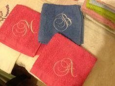 Nice monogram face washers