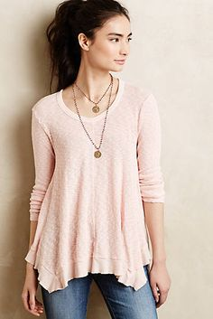 Centerline Slubbed Tee from Anthropologie Use Marcy Tilton tunic pattern with wool jersey