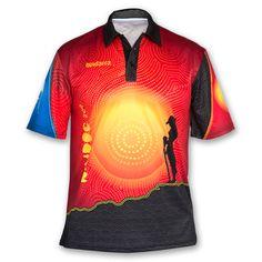 New Dawn Polo Shirt. Buy now. http://shop.bundarra.org/products/new-dawn-polo-naidoc-week-2014