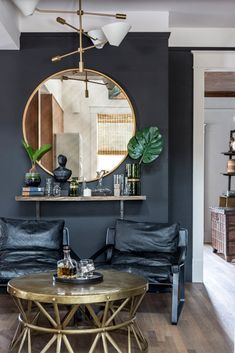 2018 Color Trends: Black Accent Walls...3 More on MotleyDecor.com