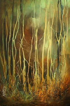 Beautiful painting by Michael Lang. (Purchased)