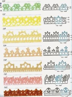 Uncinetto e crochet: Raccolta schemi per bordi e rifiniture ad uncinetto