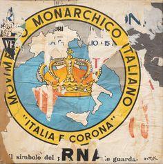 Mimmo Rotella, Italia e corona, 1962 Tornabuoni Art - La Dolce Vita Courtesy Tornabuoni Art