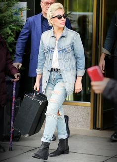 6 New Celebrity-Approved Ways to Double Up on Denim - Lady Gaga - from InStyle.com