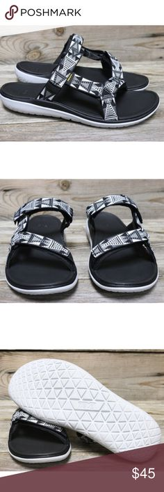 Teva Terra-Float Lexi Mosaic Black Slides US 7  New in box and authentic  Teva Shoes Sandals