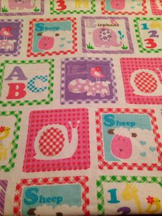 Large Baby Swaddle Blanket, Animals, Alphabet, Numbers, Purple Polka Dots, Baby Receiving Blanket, Baby Shower Gift  on Etsy, $16.50