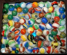 "used to love playing ""marbles"" with the neighbourhood kids. Sweet Memories, Childhood Memories, Marbles Images, Marble Art, Glass Marbles, My Memory, Lost & Found, The Good Old Days, Colored Glass"