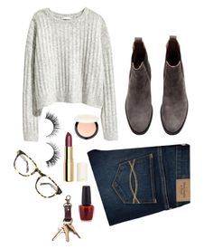 """Can you tell that I'm excited for the cold weather?"" by vineyardgirls on Polyvore featuring H&M, Abercrombie & Fitch, Rimini and Warby Parker"