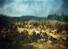 Henry Dunant at Solferino 1859.
