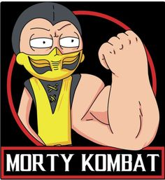 """Morty Kombat"" by Legendary Phoenix Morty Smith from Rick and Morty as Scorpion from Mortal Kombat Rick And Morty Poster, Rick Y Morty, Caricatures, Ricky And Morty, Cartoon Crossovers, Get Schwifty, Fan Art, Cultura Pop, Mortal Kombat"