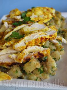 Salade épicée de poulet et de pommes de terre à l'indienne