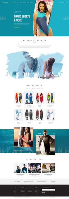 NewWind - eCommerce PSD Template on Behance