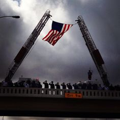 Honoring the procession laying CPO Chris Kyle to rest on 2/12/2013 in TX (photographer Kristin Glenn, near Georgetown, TX)