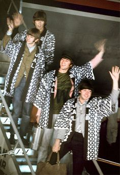 Image result for beatles landing in japan