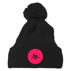 Musical Ly Embroidered Knit Pom Cap