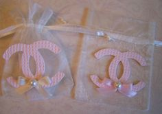 Chanel inspired party theme Favor Bags 10 by GirlyBowscom