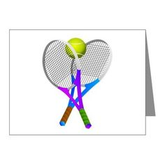 #Tennis Rackets and Ball Note Cards on CafePress by #Gravityx9 #sports4you -