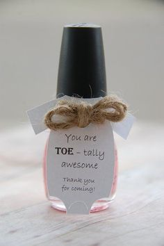 You are TOE – tally awesome ~ Manicure Gift ~ Nail Polish ~ Baby Shower Party Favor ~ Personalized Tag ~ Baby Onesie Thank You Gift Tags ~www. Fiesta Baby Shower, Baby Shower Prizes, Baby Shower Party Favors, Baby Shower Centerpieces, Baby Shower Cakes, Baby Shower Themes, Baby Shower Gifts, Baby Gifts, Shower Ideas