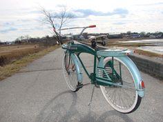 1950's jc higgins colorflow Old Bicycle, Old Bikes, Lowrider Bike, Cool Bicycles, Bike Parts, Vintage Bicycles, Tricycle, Beach Cruisers, Bike Stuff