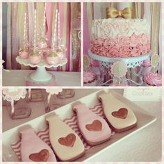 Pink and Gold Milk and Cookies Party with So Many Really Cute Ideas via Kara's Party Ideas | KarasPartyIdeas.com #CookiesAndMilkParty #Girly...