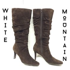 White Mountain Chocolate Suede Fashion Boots Size7 Excellent condition worn twice. Size 7 White Mountain Shoes Heeled Boots