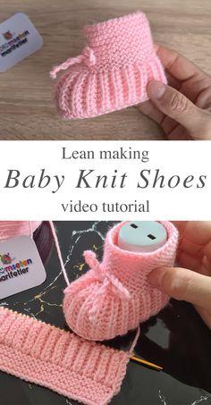 Baby Knitting Patterns Free Newborn, Baby Booties Knitting Pattern, Baby Shoes Pattern, Crochet Baby Booties, Baby Patterns, Knit Shoes, Knitting Accessories, Easy Knitting, Baby Sweaters