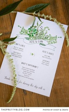 Farm-Style Wedding stationary ideas | | Photographer: Shoot and Create | Stationery: Nooi Stationery