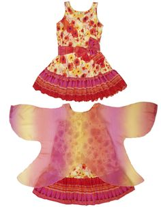 Unique girls clothing: The TwirlyGirl Wings of Wonder Dress.  Transform into a butterfly or fairy! $67 CLICK HERE TO SEE MORE.
