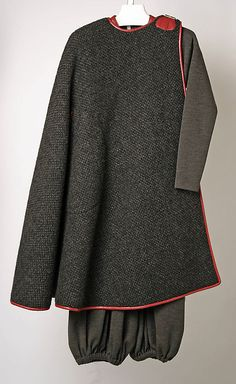 Bonnie Cashin ensemble in wool and leather. Fall/Winter 1970-1971. Gift of Helen and Phillip Sills Collection of Bonnie Cashin Clothes, 1979. The Metropolitan Museum of Art online collection.