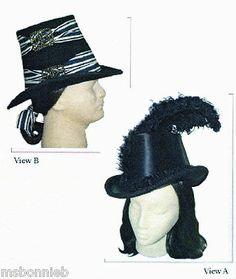 1600s - 1800s Georgian Tall Hat Pattern 2 Styles, Men & Women- Lynn McMasters