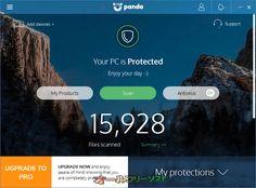 Panda Free Antivirus 18.0  Panda Free Antivirus--起動時の画面--オールフリーソフト