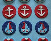 $18.99   Fondant Toppers Nautical Theme - Perfect for Cupcakes, Cookies and Other Creations