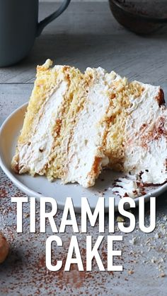 This super delicious Tiramisu Cake recipe comes with detailed step-by-step photos and video. Tiramisu Cake Recipe from Also The Crumbs Please dessert This super delicious Tiramisu Cake recipe comes with detailed step-by-step photos and video. Just Desserts, Delicious Desserts, Yummy Food, Elegant Desserts, Fancy Desserts, Wedding Desserts, Summer Desserts, Bolo Tiramisu, Tiramisu Dessert