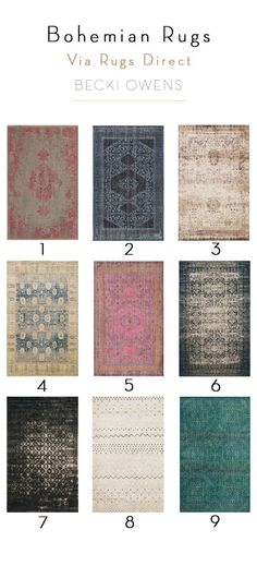Love a little boho style? Check out some of the prettiest bohemian style rug picks from Becki Owens from Rugs Direct!