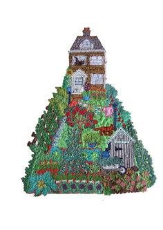 Janet Browne Textiles - Allotments, gardens and hens Free Motion Embroidery, Free Machine Embroidery, Hand Embroidery, Embroidery Ideas, Map Quilt, Stitch Pictures, Creative Textiles, House Quilts, Sewing Appliques