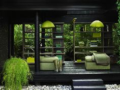love the greens with the black