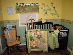 Jungle Babies Nursery: When I found out I was pregnant, I was so excited that I wanted to start on the nursery as soon as possible! Keeping this in mind, since I didn't know